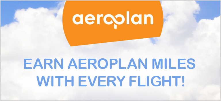 Earn Aeroplan Miles with every flight!